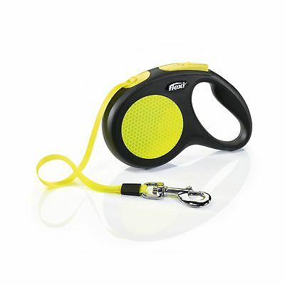 Flexi Neon Reflective Dog Lead Small 12kg Cord Medium 20kg Large Tape 50kg