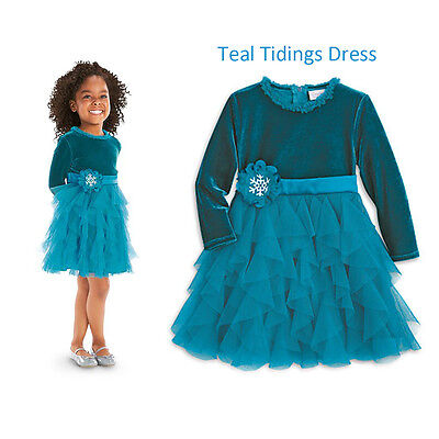 33610ee9cf94 AMERICAN GIRL CL BITTY BABY TEAL TIDINGS DRESS SIZE 3 SMALL for ...