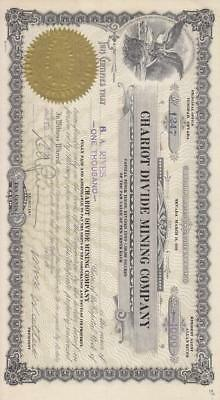 Stock Cert.: Chariot Divide Mining Company (S10357)