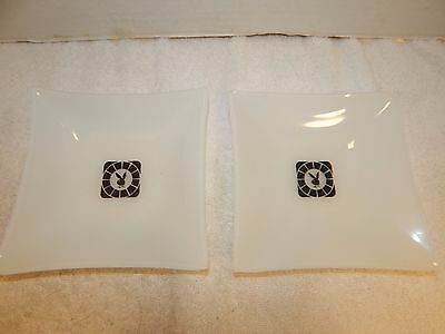 Playboy Ashtray White Frosted Glass Vintage Lot of 2