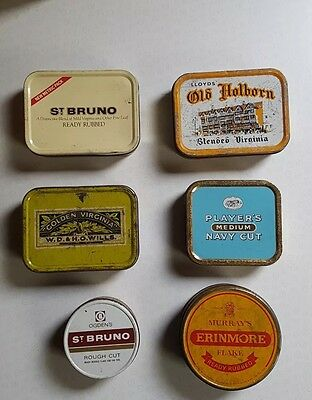Collection Of 6 Vintage Tobacco Tins Advertising