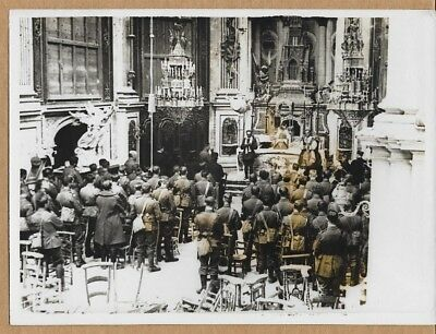 1918 Collegiate Church St. Quentin France After Recapture Services News Photo