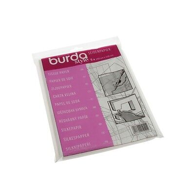 Burda 5 x 110 x 150cm Tissue Tracing Paper Tailors Dressmaking Sewing Embroidery