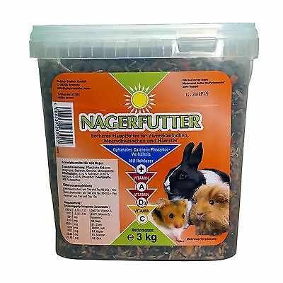 Rodents Food, Food For All Rodents 3kg - Dwarf Rabbits Guinea Pig Hamster