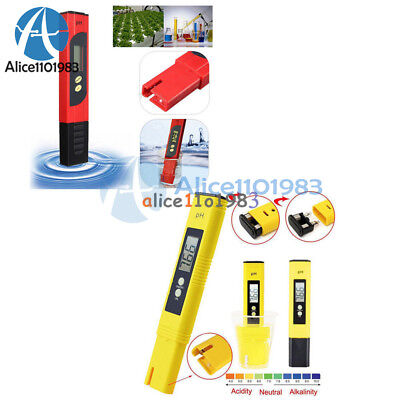 Digital LCD PH Meter TDS EC Water Purity PPM Filter Hydroponic Pool Tester