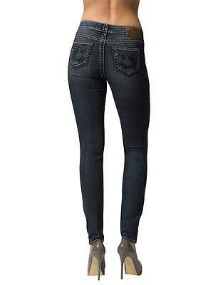 SILVER JEANS SALE Mid Rise Embroidered Suki Skinny Jegging Jean 27,30,31,32,33