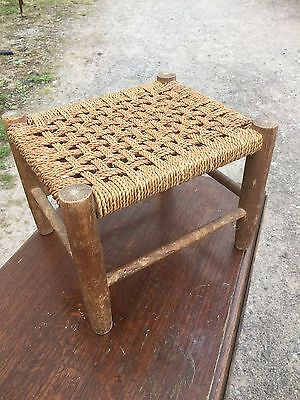 Vintage Weave Stool Traditional Style 11/7/D