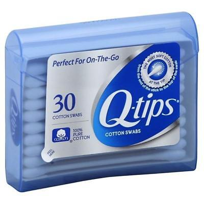Q-Tips Cotton Swabs 30 per Pack Perfect For on the Go