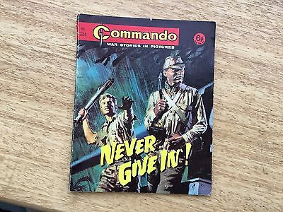 1972 Commando War Stories Comic Book No 654 Never Give In !