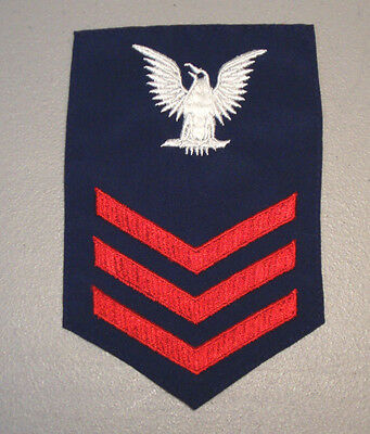 U.s Navy 1St Class Petty Officer Rate-Rank Patch   L@@k