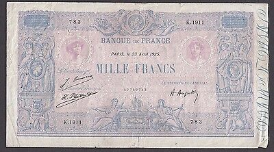 1000 Francs From France 1925