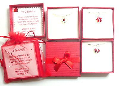Red Heart Flower Butterfly Necklaces Wedding Bridesmaid Birthday Valentines Gift