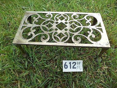 Antique Ball & Claw Brass Trivet Stand