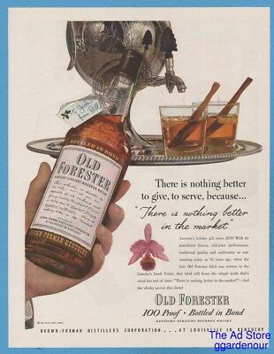 1948 Old Forester Cinnamon Whiskey Hot Toddy Brown Forman Distillers ad