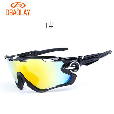 Polarized Cycling Sports Riding Bicycle Sunglasses Bike Mountain Goggles 3 Lens