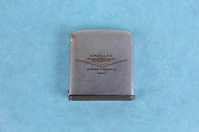 "Vintage 1961 Cadillac Craftsman 72"" Zippo Advertising Measuring Tape"