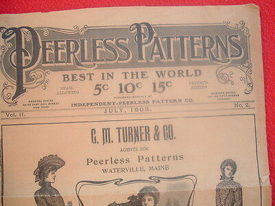"""1903 AWESOME """"Peerless Patterns""""All kinds of Dresses,PICTURES,PRICES,Publication"""