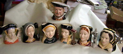 ** GORGEOUS - Complete SET - ROYAL DOULTON - HENRY VIII & 6 wives - LARGE - EXC