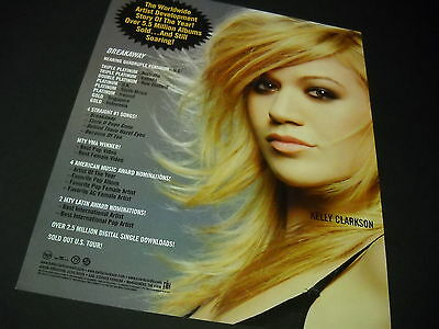 KELLY CLARKSON The Story Of The Year... 2005 PROMO DISPLAY AD mint condition