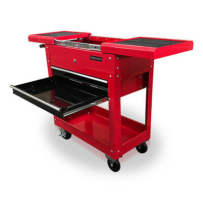 419 Us Pro Tools Tool Cart Trolley Mobile Workstaion Box Gloss Red Black