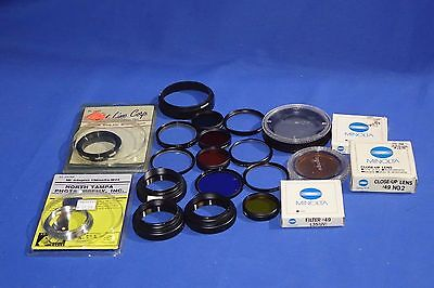 LOT of Various Minolta Filters and Misc Stepping Rings #L1921BP