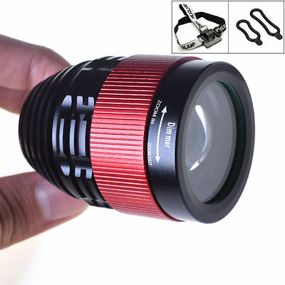 3000Lm T6 LED Adjustable Focus Headlight Bicycle Bike Cycling Front Light Lamp