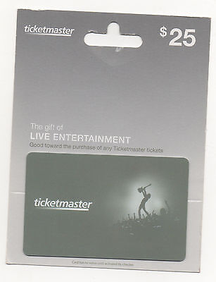 $25 Ticketmaster Ticket Master gift card