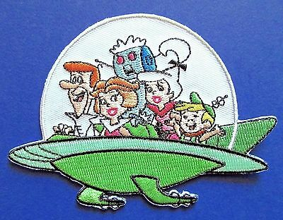 THE JETSONS family ship EMBROIDERED IRON-ON PATCH p-han-3 cartoon applique tv
