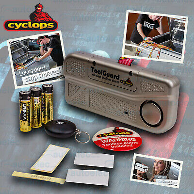 Cyclops Toolguard Toolbox Truck Lid Security Protect Alarm With Wireless Remote