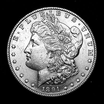 1891 S ~**CHOICE AU**~ Silver Morgan Dollar Rare US Old Antique Coin! #R22