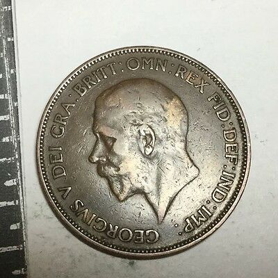 GREAT BRITAIN 1934 1 Penny coin Nice condition