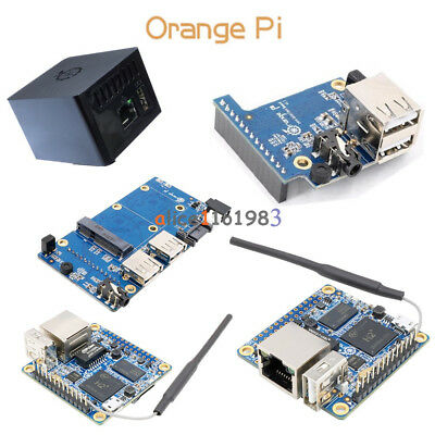 Orange Pi Zero/Zero NAS 256/512MB H2 WiFi SBC Expansion Board USB Black ABS Case