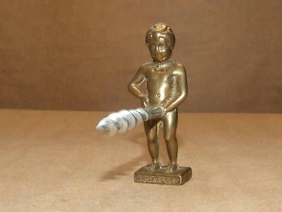Vintage Solid Brass Boy Peeing Corkscrew Made In Bruxelles