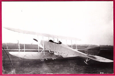 1912 RFC Royal Aircraft Factory B.E.3 Biplane Photo by Real Photograph Co. Ltd
