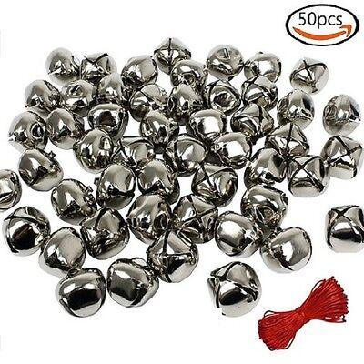 1 Inch Christmas Gold Bells Craft ( 50 Pack ) for Festival Decoration DIY Craft