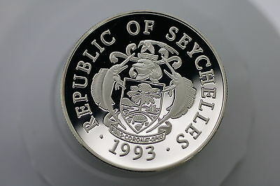 Seychelles 25 Rupees 1993 Silver Proof Olympics A66 Zx15