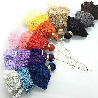 2pcs 3 layer cotton tassels DIY jewelry accessories Earring Making Accessories