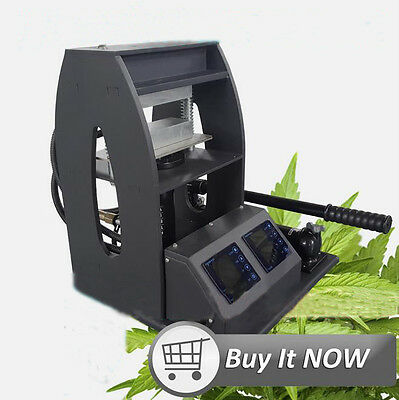 ECO 3″X6″ 10-Ton Rosin Heat Press with Dual Heating Platens Element LCD Screen