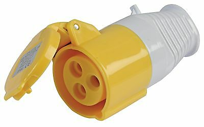 SITE SOCKET 16A INDUSTRIAL Building Worksite Electrics IP44 ROUND 3P 110V 2P+E