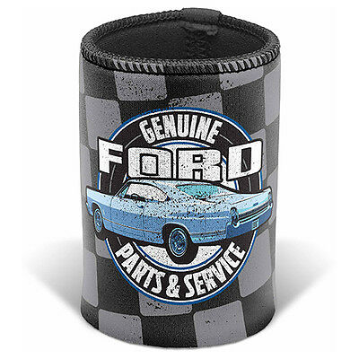 Ford Genuine Parts & Service Can Cooler Stubby holder Man Cave Bar Fathers Gift