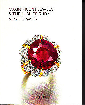 Christie's Magnificent Jewels & The Jubilee Ruby New York April 20 2016