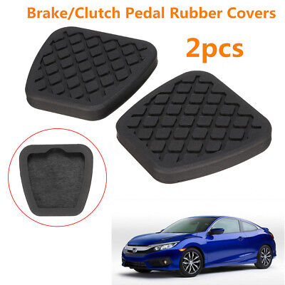 2pcs Brake Clutch Pedal Pad Rubber Cover Set For Honda Civic Accord CR-V Acura