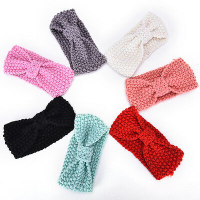 Winter Warm Headband Crochet Knitted Headwrap for Baby Infant Kids Toddler Top