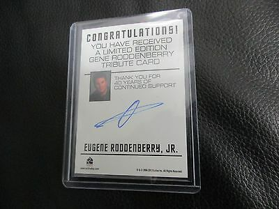 Star Trek Original Series 40th Anniversary Eugene Roddenberry Jr. Autograph TOS
