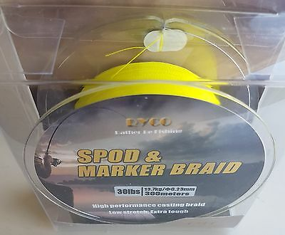 SPOD and MARKER braid 20lb//30lb floating  olive green colne valley tackle