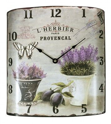 Vintage Wall clock in Country House Style Metal 21502