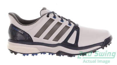 New Mens Golf Shoes Adidas Adipower Boost 2 Medium 10 White/Blue/Gray MSRP $150