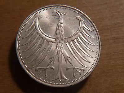Germany 1961-D Scarce Silver 5 Mark, Nice Uncirculated Condition..SKU#11935