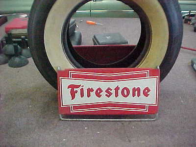 Vintage FIRESTONE Tire Stand SIGN Gas Oil Station Car Truck Display 30S 40s 50s