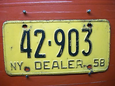 New York = 1958 = Dealer Plate   =660